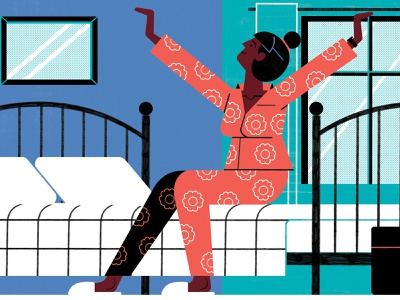 Fitbit michael driver technology lifestyle editorial character folioart digital illustration