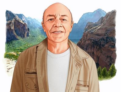 Bob Van Stee helen green portrait realist drawn landscape folioart digital illustration