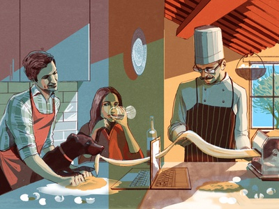 Greg James food texture editorial folioart digital illustration