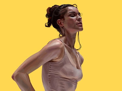 Ballet dance woman daniel clarke painting folioart digital illustration