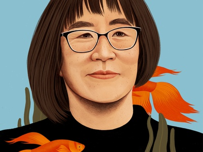 Conservationists wwf realist women conservation nature portrait editorial folioart digital illustration