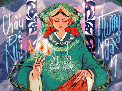 Four Palaces mythology camelia pham texture folioart character digital illustration