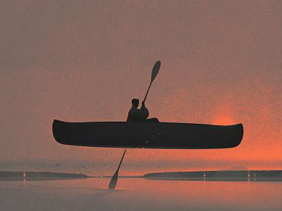 Solitude karolis strautniekas landscape conceptual texture folioart digital illustration