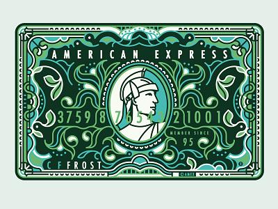 American Express vector illustration