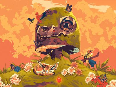 Alexander Wells - Folio poster art fantasy nature fox japan anime design digital manga studio ghibli illustration