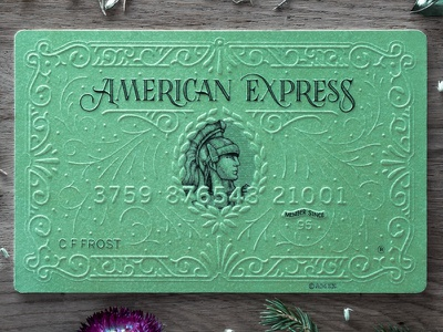 American Express decorative design calligraphy papercarft