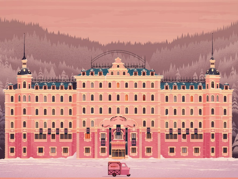 Grand budapest hotel by folio illustration agency dribbble for Top design hotels budapest