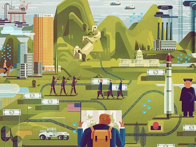 Foreign Affairs Magazine graphic geometric design politics usa trump art illustration