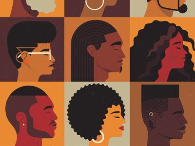 The Blake School, Cyrus Magazine Winter 2017 design graphic portrait afro barbering cover editorial art illustration