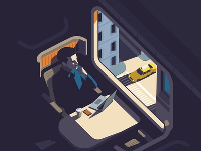 Train Seat Man vector taxi train transport person illustration graphic digital