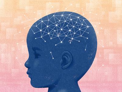 Spectrum News texture illustration brain neurology autism science editorial