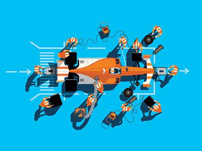 Yusen Logistics, Japan graphic illustration transport motorsport racing car vector
