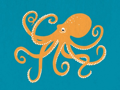 Cornwall Wildlife Trust wildlife illustration vector digital octopus ocean sea graphic