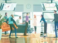 James gilleard folio illustration the atlantic when silicon valley took over journalism lead l