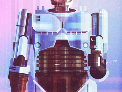 Gallery 1988 character cinematic graphic illustration poster film technology light texture futuristic robot