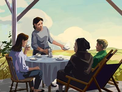 Amazon Kindle narrative book publishing landscape character illustration graphics motion animation gif