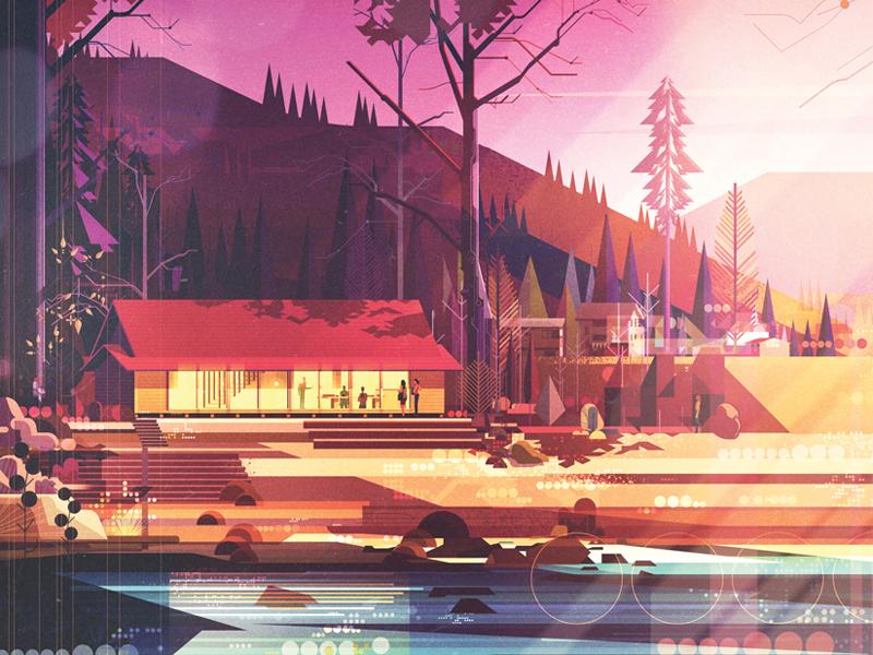 Fast Company texture graphic illustration nature light japan landscape building architecture