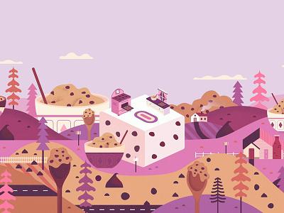 Cookie Dough baking graphic landscape cookie packaging food illustration digital