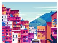 Maite franchi folio illustration digital travel city italy