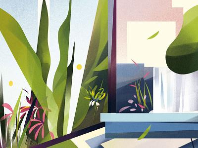 Hanging Gardens folioart illustration digital nature