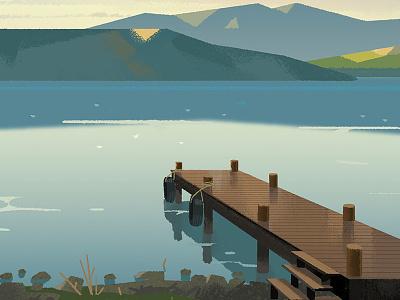 Loch Lomand folioart nature illustration