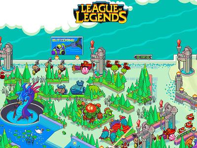 League Of Legends leagueoflegends map design art illustration