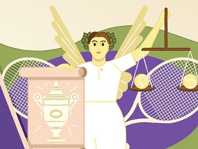 Republic of Wimbledon wimbledon kikiljung financialtimes illustration folioart