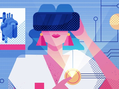The Future of the NHS technology maitefranchi pharmacy wireduk editorial design folioart art illustration