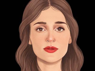 Lola Besis art drawn portrait realist folioart digital editorial illustration