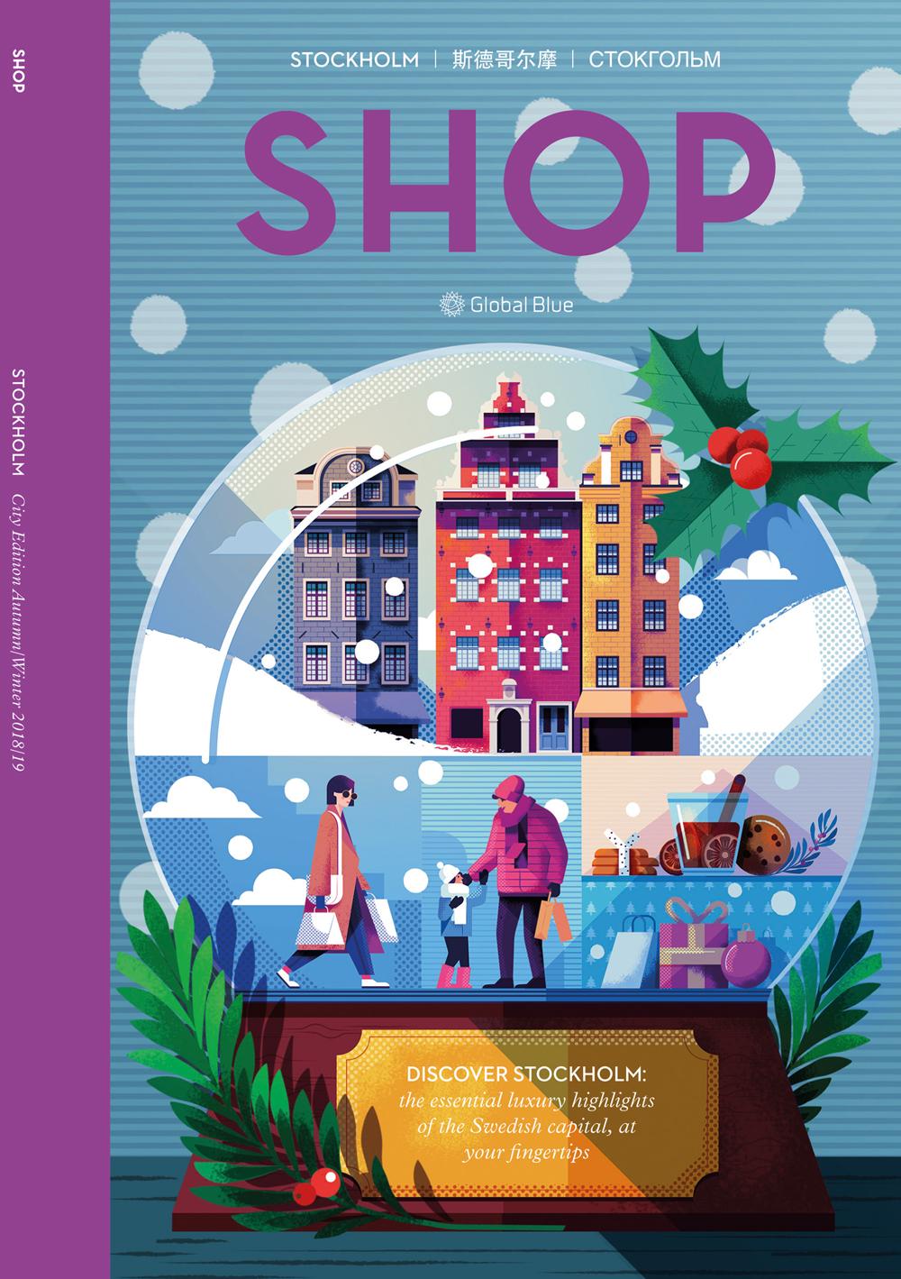 Maite franchi folio illustration christmas shop magazine stockholm cover aw18