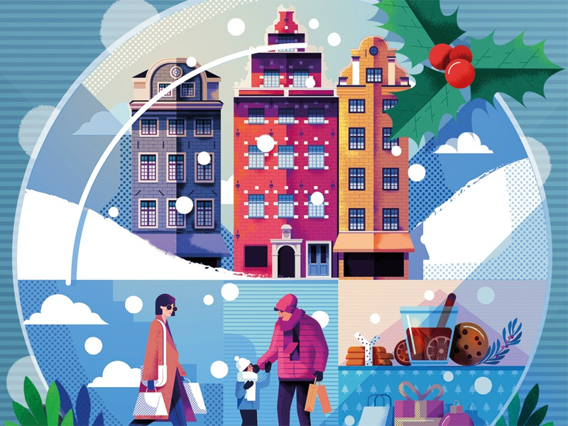 Stockholm AW18 festive winter christmas maitefranchi folioart graphic editorial digital illustration