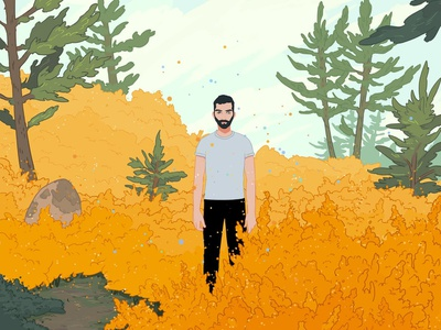 Vision conceptual narrative landscape ricardobessa folioart character digital illustration