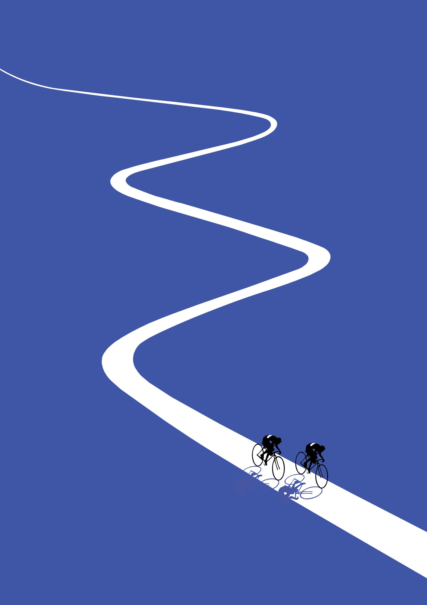 Jason brooks folio illustration sports cycling open road