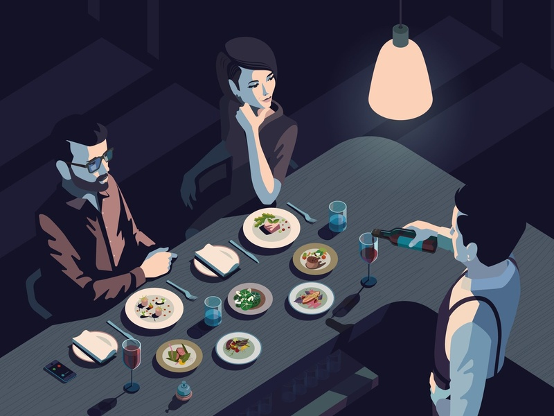 Restaurant hospitality bar peter greenwood folioart digital restaurant vector food illustration