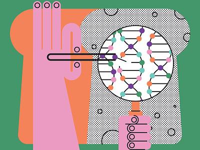 Yeast john devolle editorial research science folioart vector digital illustration