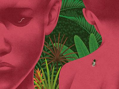 Parasite journal kouzou sakai medicine research science texture folioart editorial digital illustration