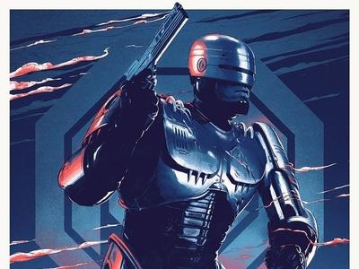 Robocop character scifi grey matter art juan esteban rodriguez robocop film print folioart digital illustration