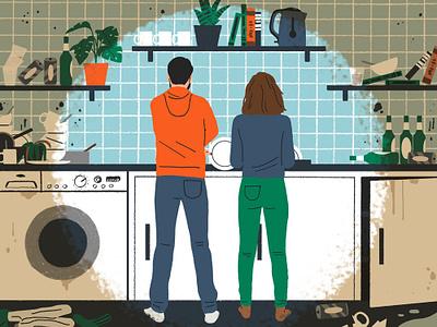 Domestication folioart michael parkin conceptual house humour digital editorial illustration