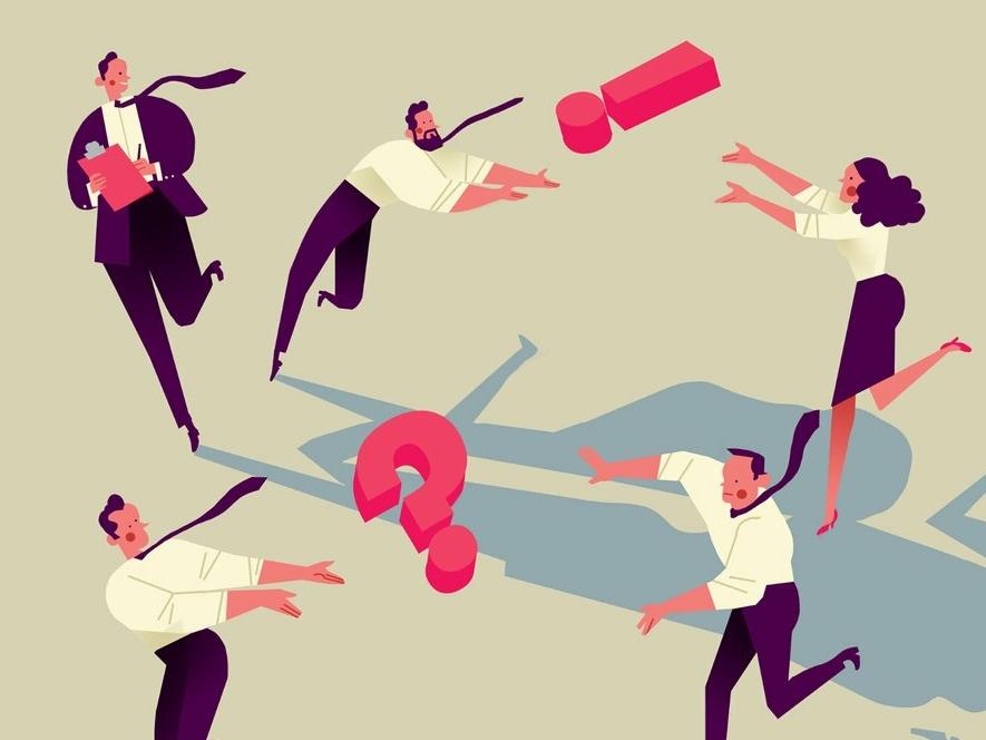 Working Together business folioart emanuel wiemans conceptual character digital editorial illustration