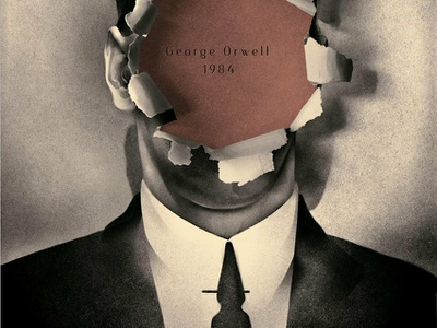 1984 texture karolis strautniekas design publishing book cover conceptual folioart digital illustration
