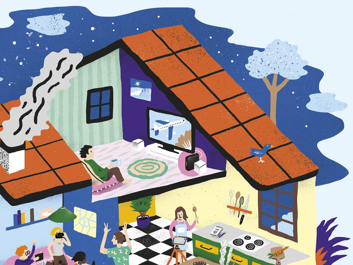 Home Connected advertising colour antoine corbineau humour technology home character digital illustration