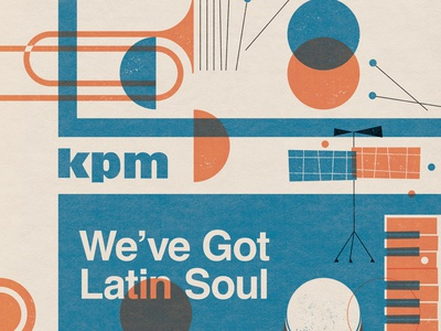 Latin Soul texture nick radford album cover music collage folioart digital illustration