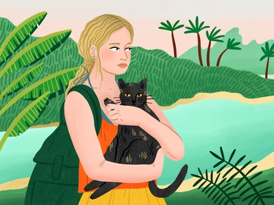 Colgate University bodil jane ecuador travel landscape cat narrative folioart editorial digital illustration