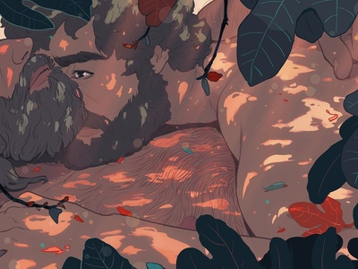 Dayspring ricardo bessa nature leaves portrait lgbt folioart digital illustration