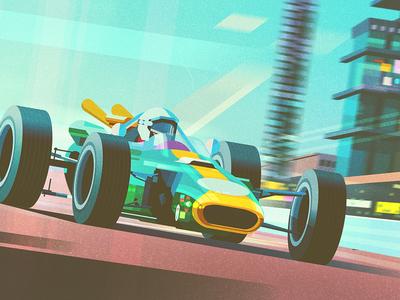 Formula 1 james gilleard texture formula 1 cars book publishing folioart digital illustration
