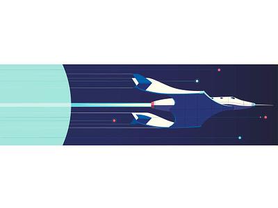 Virgin Galactica peter greenwood travel space vector folioart digital illustration