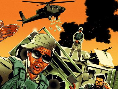 Recruits alexander wells music rap army folioart editorial digital illustration