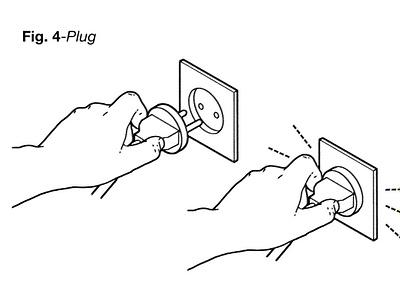 Plug instruction advertising son of alan isometric diagram infographic line folioart digital illustration