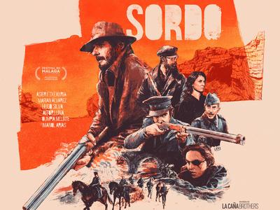 Sordo design juan esteban rodriguez spanish movie poster film character folioart digital illustration