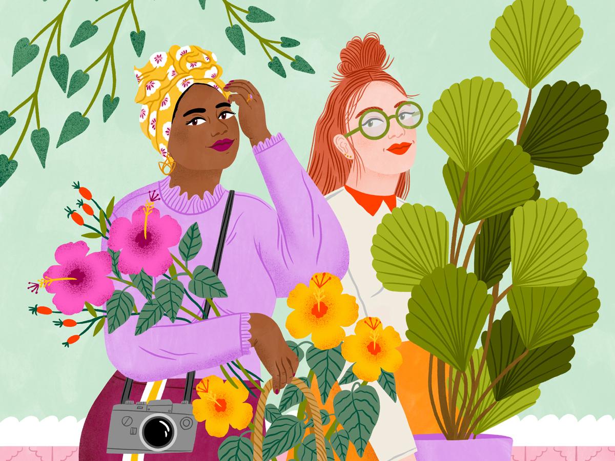 Botanics bodil jane summer floral women fashion plants character folioart digital illustration